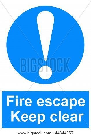 An image of a Fire escape sign poster