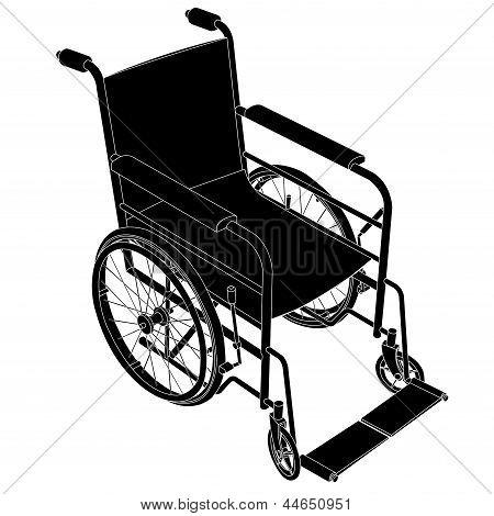 Wheelchair Vector.