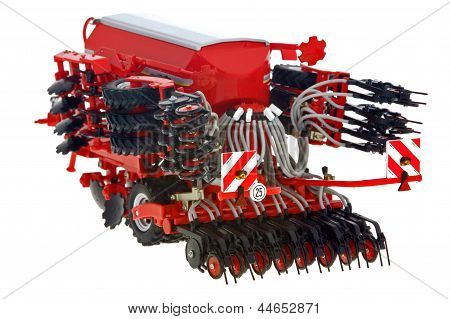 agriculture with drill Sowing the Seed