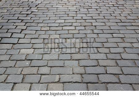 Cobblestone Pavement. Abstract background of cobblestone pavement. poster