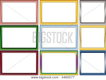 Set Of Simple Color Photoframes