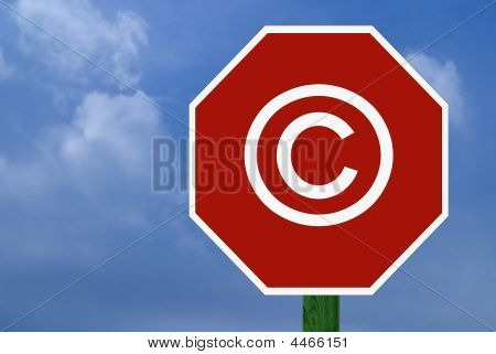 Stop Sign With Copyright Symbol