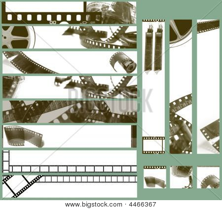 Photography Film Background For Banner
