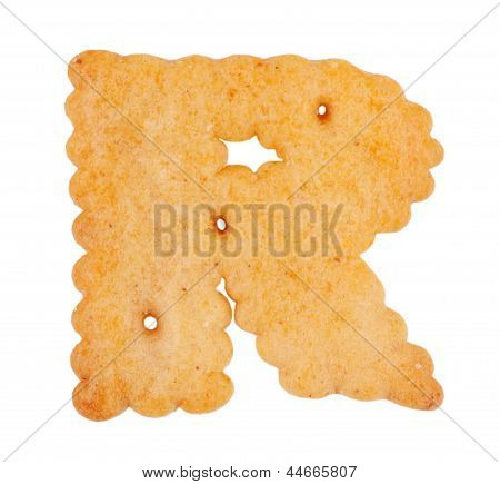 """Tasty cookies in the form of the letter """"r"""" poster"""