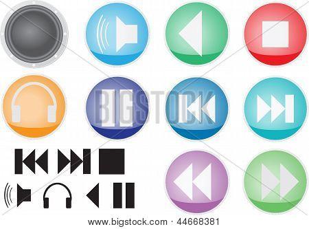 audio icons and symbols