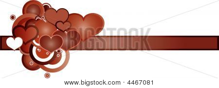 Retro Red Hearts