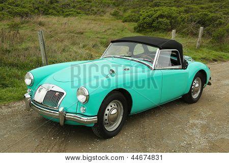 SAN FRANCISCO, CA - MARCH 28: MGA sport car in suburb of San Francisco