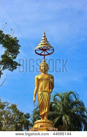 Buddha Statue In Temple Of The Wat Rhai Pa, Trat, Thailand