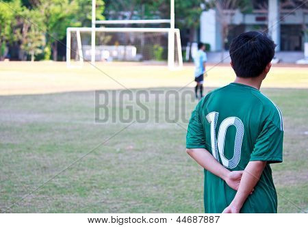 Soccer Player Wait For The Match3