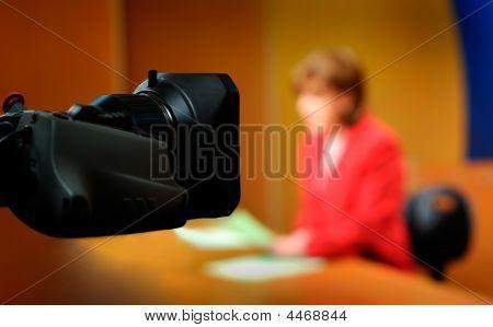 Recording In Tv Studio