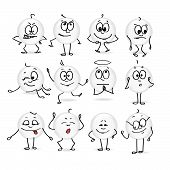 collection of vector images of smiley emotions movement mood poster