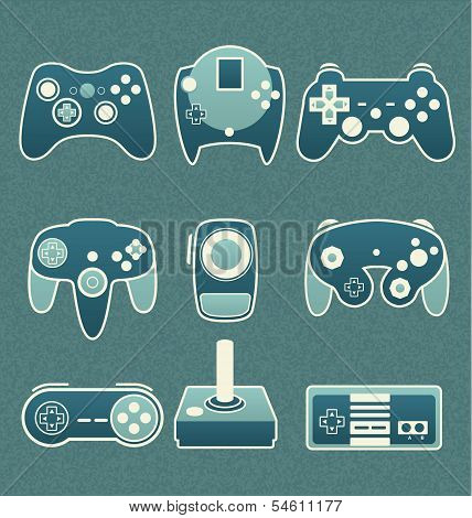 Vector Set: Retro Video Game Remote Controls