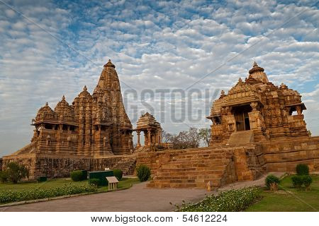 Kandariya Mahadeva Temple, Dedicated To Shiva - Left Side And Debi Jagdambi Temple, Khajuraho