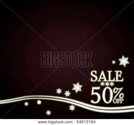 A Christmas Sale 50 Percent Off Design Red Christmas Background