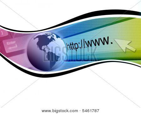 Rainbow Internet Technology Wave Background