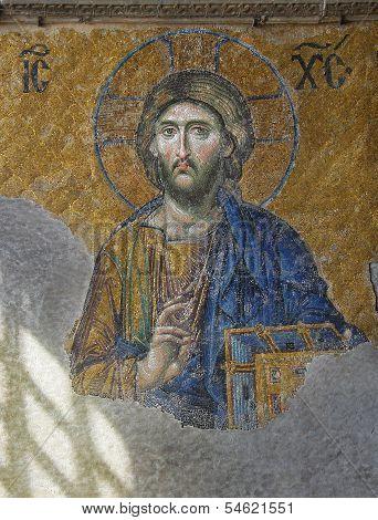 Hagia Sofia: Christ Mosaic (For Editorial Use)