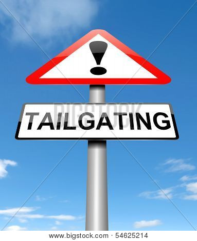 Tailgating Concept.