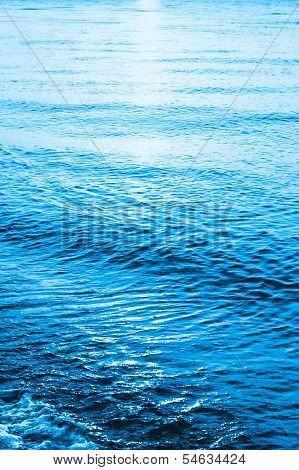 Blue Sea Ocean Waves  Background