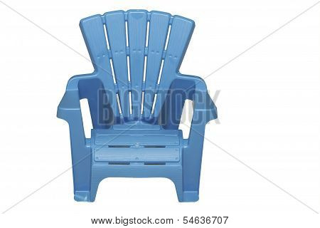 Light Blue Lawn Chair Isolated