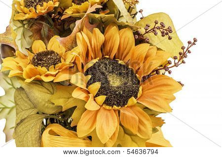 Fall And Autumn Colored Flower Arrangment
