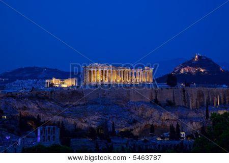 Night View Of Acropolis