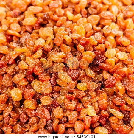 Golden Dried Raisins Background