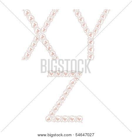 Pearl ABC Vector Illustration