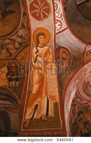 Sacred Fresco Of Cappadocia, Early Christians Caves Cities