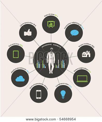 Human infographic vector illustration