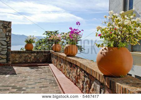 Stone Terrace Overlooking Ocean