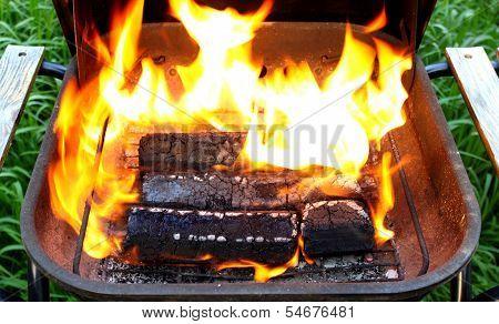 wooden briquettes for BBQ