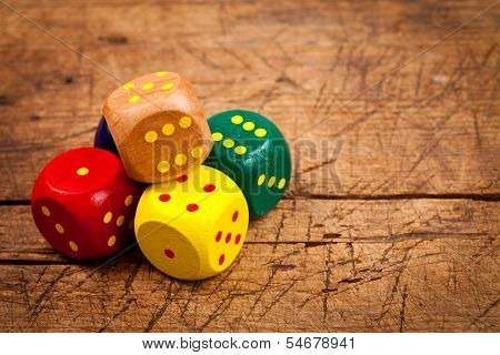 Pile Of Wooden Dice