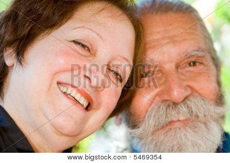 Old Happy Loving Couple