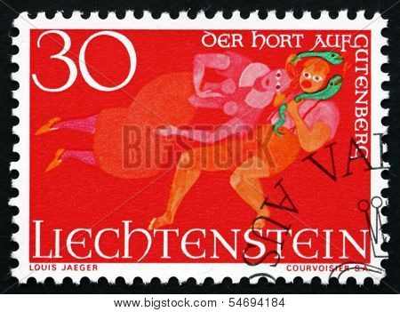 Postage Stamp Liechtenstein 1967 The Treasure Of Gutenberg