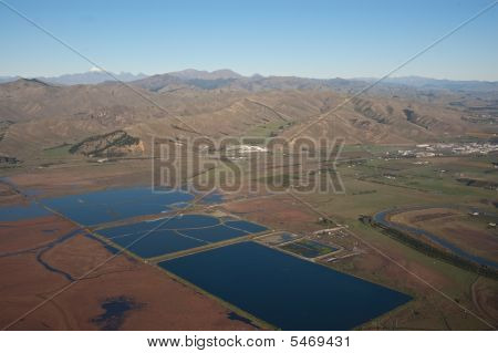 Storage Ponds Near Blenheim, Nz