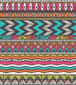Tribal vector pattern. Seamless hand-drawn background. EPS 10. poster