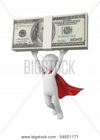 Superman with money