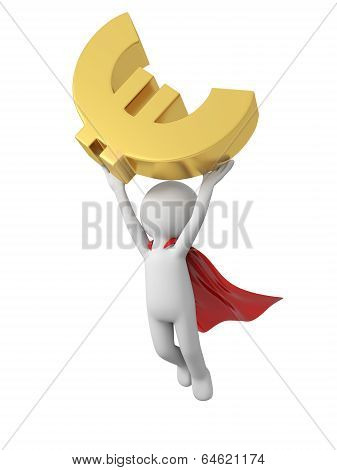 Superman with financial symbol