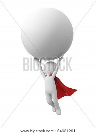 Superman with ball