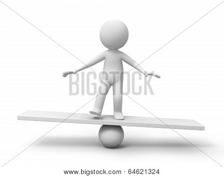 Man with balance board