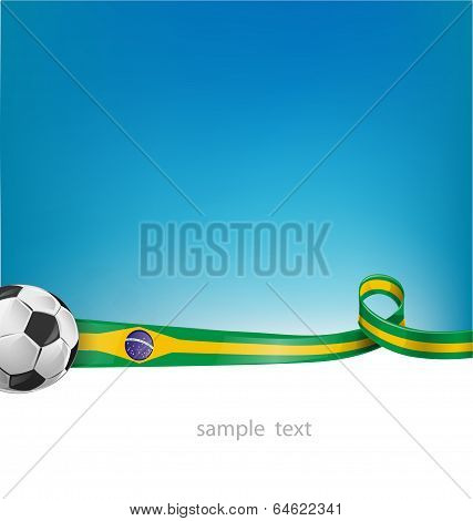 Brazil Background With Soccer Ball