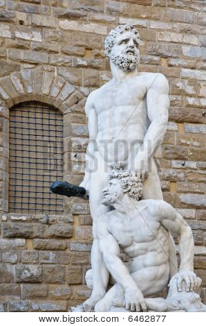 Classical Marble Hercules And Cacus Sculpture