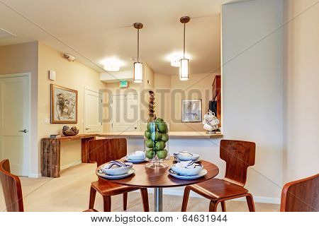 Dining Area With Served Table