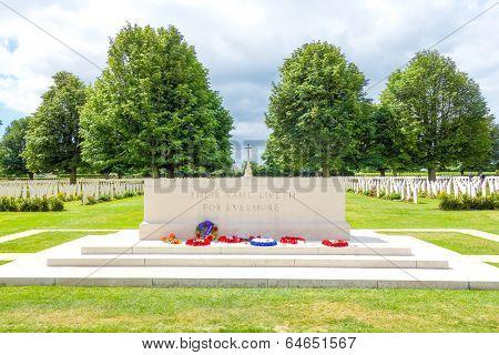 Omaha Beach, Normandy,Ferance.- August 9: American War Cemetery on August 9, 2013. American War Cemetery at Omaha Beach, Normandy (Colleville sur Mer ) France.