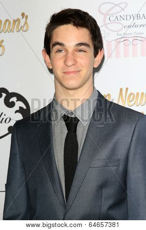 LOS ANGELES - APR 27:  Zachary Gordon at the Ryan Newman's Glitz and Glam Sweet 16 birthday party at Emerson Theater on April 27, 2014 in Los Angeles, CA