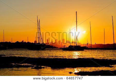Siluette Of Sunset