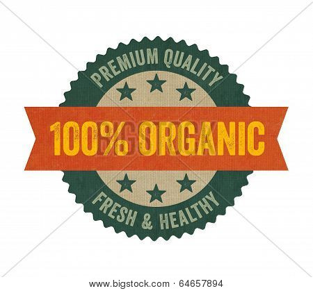 Label with the text Organic on a white background