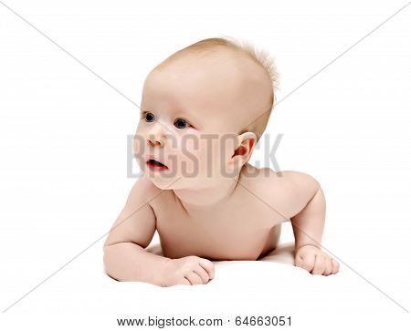 Bright Picture Of Crawling Baby