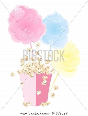 Popcorn And Cotton Candy