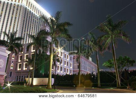 Palm Trees Near Venetian Casino Building